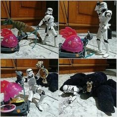 Stormtrooper and the candy #stormtrooper #starwars #dinosaur #spider #candy #toy #toys # funny