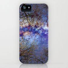 Fantasy stars. Milkyway through the trees. iPhone & iPod Case by Guido Montañés - $35.00