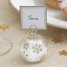 Winter Wonderland - Bauble Place Card Holders | UK Wedding Favours