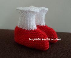 Chaussons façon chaussettes en taille naissance
