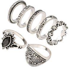 Yunkingdom vintage piccola dimensione anello set semplice anelli di modo per le donne signore gioielli moda all'ingrosso/al minuto yun1197