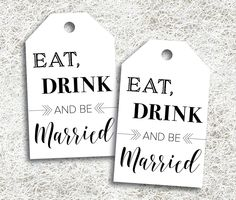 Printable Favor Tags   Instant Download   Eat Drink And Be Married   Wedding Reception Favors   DIY Favor Tags   Wine Bottle Tags   Marraige by ellums on Etsy