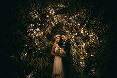 Greenery, twinkly lights, pretty petals | Slubne Wedding Studio