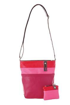 Frauentaschen :: DAILY :: D10 | ZWEI Taschen Handtasche :: Multicolor :: mehrfarbig :: vegan :: lederfrei :: pink :: rosa :: berry :: rot
