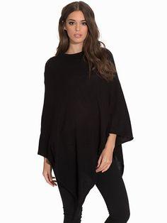 Pcrikki Wool Poncho Noos - Pieces - Black - Accessories Miscellaneous - Accessories - Women - Nelly.com