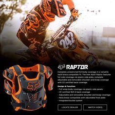 Pour Mathieu : Dirt Bike & Motocross Gear from Fox Racing - Performance Moto Gear - Raptor in blue or black