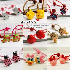 L63韓國兒童發飾頭飾品寶寶發繩公主辮繩發圈出口訂單卡通單頭繩