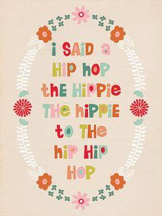 "Fontaholic: FREEBIE FRIDAY: ""I said a hip hop"" Easter Printable"