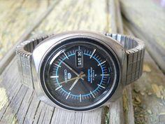 Vintage Diver Seiko 5 Sports 6119-8450 21 j. Automatic Men's Japan watch 70's