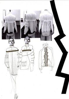 Fashion Sketchbook - fashion design development with sketches & stand work; fashion portfolio layout // Sophie Bateson