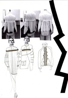 Fashion Sketchbook - fashion design development with sketches & stand work; fashion portfolio layout // Sophie Bateson
