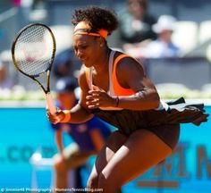 Emotional Serena Williams at the 2015 Mutua Madrid Open