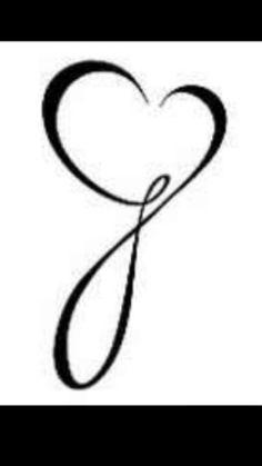 Letter J for Jepsen with heart Tattoo