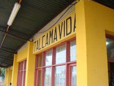 Estación de trenes de Talcamávida, 55 km al sur de Concepción.