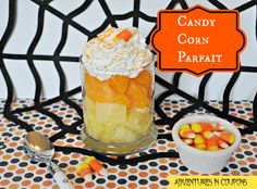 Looking for a tasty Halloween treat that isn't full of sugar? This Candy Corn Parfait Recipe is a simple and easy Halloween Treat that everyone will love!