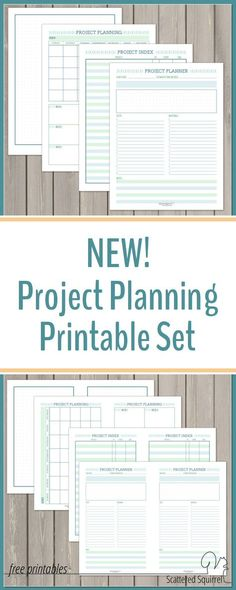 Free Printable Home Organizer  Project Planner  Stationery