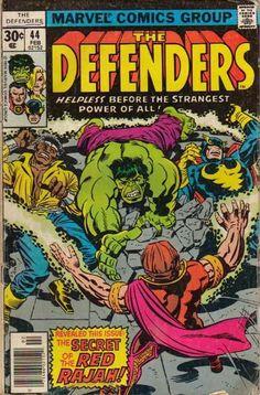 Defenders #44, the Red Rajah. Jack Kirby cover. #Defenders #RedRajah #JackKirby