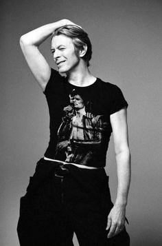 Bowie wearing Bowie--because he can . photo by Inez van Lamsweerde
