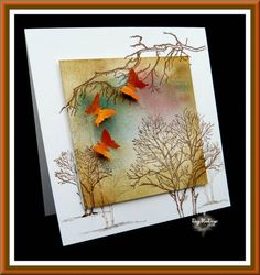 LIM challenge card ' butterflies' ( no 2) by Daizy-Mae - Cards and Paper Crafts at Splitcoaststampers