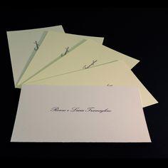 I biglietti di ringraziamento, o anche detti di cortesia, solitamente sono il primo stampato della nuova famiglia creatasi dal matrimonio. A nozze avvenute il galateo prevede che biglietti di ringraziamento siano spediti o consegnati agli invitati al matrimonio, debitamente compilati con una frase di ringraziamento, sia per l'avvenuta presenza dell'invitato alle nozze sia per riconoscenza dell'eventuale omaggio ricevuto per l'occasione del matrimonio.