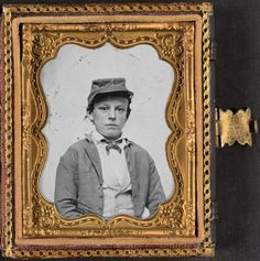 Library of Congress image: Unidentified young soldier in Confederate infantry uniform, possibly drummer boy, donated to the Library of Congress 2012 by Tom Liljenquist; Liljenquist Family Collection of Civil War Photographs.