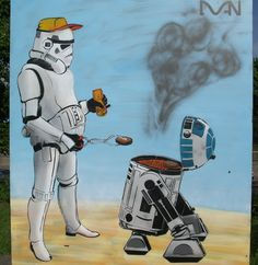 Star wars street art humor