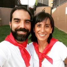 Celebrando un cumple, celebrando #SanFermin y celebrando la decisión de tomar las riendas de nuestras vidas cuando hace pocos meses decidimos #emprender en internet. Hoy es un gran dia!!