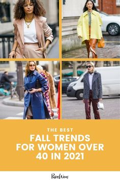 Whip out your leather jacket and dust off your plaid, fall's almost here and you'll want your wardrobe to be prepared. This year, try these fabulous trends ideal for women over 40. #fall #trends #style Chic Fall Fashion, Fall Fashion Trends, Fall Trends, Shearling Jacket, Leather Jacket, Checked Trousers, Flowy Tops, Fashion Tips For Women, Street Style Looks