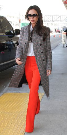 Style Lessons We Learned from Being Obsessed with Victoria Beckham - Lesson: Tone Down a Pop of Color - from InStyle.com