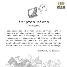 We're here to make an 'impression'. See what the #Digital Dictionary has to say this week.