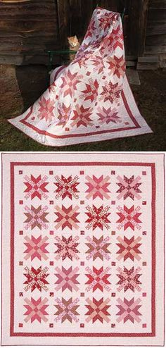 Red and White quilt idea!  MISS LILLIAN QUILT PATTERN by Keepsake