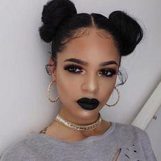 Black lipstick - Follow us on instagram /orglamix/ Cruelty Free Beauty. Vegan Beauty. Beauty Box. Makeup Subscription.