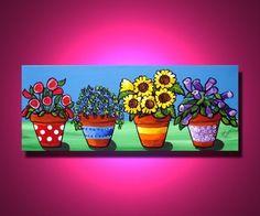 FLORES coloridas macetas florales caprichosos por reniebritenbucher