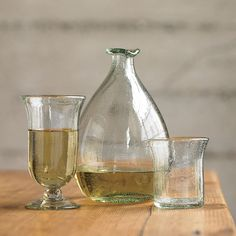 Clear Glass Wine Decanter Set