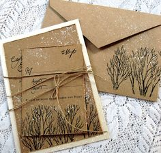 Love these, but Gary didn't like the craft paper.  Could we do something similar on the birch-bark-looking paper?