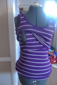 DIY Nursing Shirt - I'm not sure how this would work with a nursing bra since all the ones I've seen unsnap at the top.