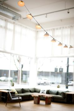 Pleated String Lights by Pigeon Toe Ceramics Home Interior, Interior And Exterior, Interior Decorating, Interior Design, Decorating Kitchen, Hanging Lights, String Lights, Hanging Lamps, Fairy Lights
