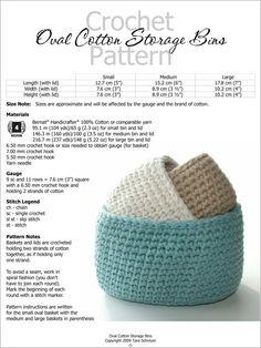 New crochet basket oval storage bins 46 ideas Crochet Home, Crochet Crafts, Yarn Crafts, Easy Crochet, Crochet Projects, Free Crochet, Knit Crochet, Diy Crafts, Crochet Patterns For Beginners