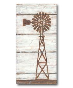 Farmhouse Windmill Wrapped Canvas