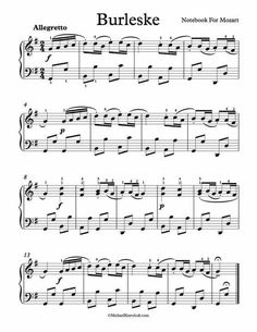 Free Piano Sheet Music - Burlesque - Notebook For Mozart. Enjoy!