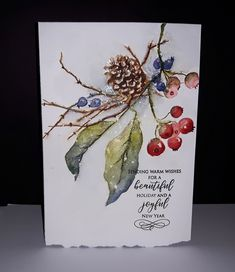 Read information on Homemade Christmas Cards Painted Christmas Cards, Watercolor Christmas Cards, Christmas Drawing, Christmas Cards To Make, Noel Christmas, Christmas Paintings, Watercolor Cards, Xmas Cards, Watercolor Flowers