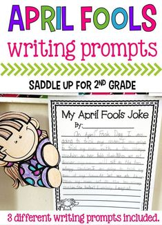 April Fools Day is such a fun time for kids. Why not have some fun in the classroom? These writing prompts let your kids share their favorite pranks and tricks. Three different ones are included.
