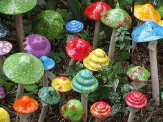 Ceramic mushrooms http://www.flickr.com/photos/umelecky/3617984967/