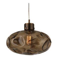 Heathfield & Co Leoni Smoke Antique Brass Pendant Lamp