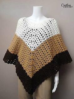 This fun and stylish poncho is perfect for covering up on those cooler summer nights. Its versatility will take you all the way from spring, through summer and into the fall.