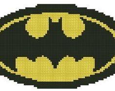 Superman Plastic Canvas | Batman Logo Cross Stitch E-Pattern