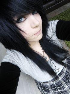black hair. i miss my black hair. i might dye it back soon.