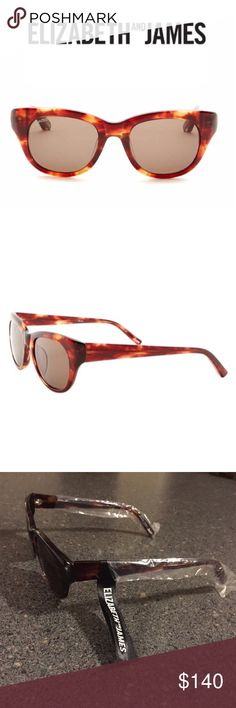 Elizabeth and James Anson Tortoise Shell Sunnies Brand new Elizabeth and James tortoise shell sunglasses.  Plastic frames.  These glasses come with a signature white case with magnetic closure and a dust cloth.  This is a sold-out style. Elizabeth and James Accessories Sunglasses