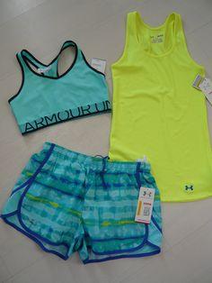 New Under Armour Womens Shorts Escape Tank Top Bra Top Running Set Size s M | eBay