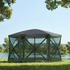 Lightspeed Outdoors Pack N Go Gazebo with 2 Shade Walls Screen Tent, Screen House, Small Bar Areas, 8 Person Tent, Large Gazebo, Hot Tub Gazebo, Tent Decorations, Small Bars, Other Space